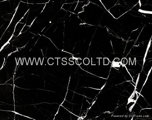 Black Marquina marble tile 1