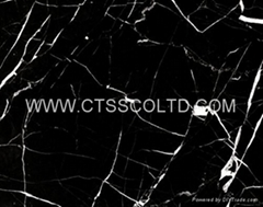 Black Marquina marble tile