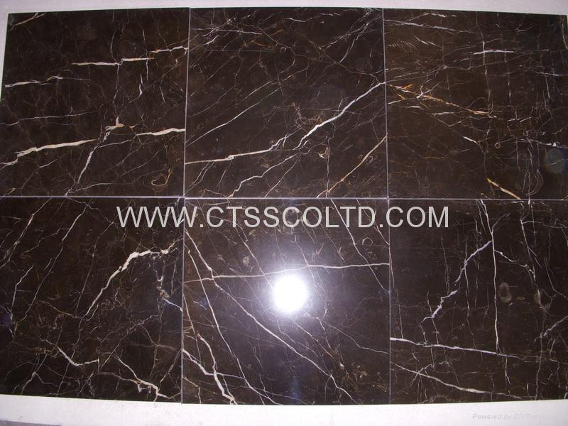 Brown marble tiles 4
