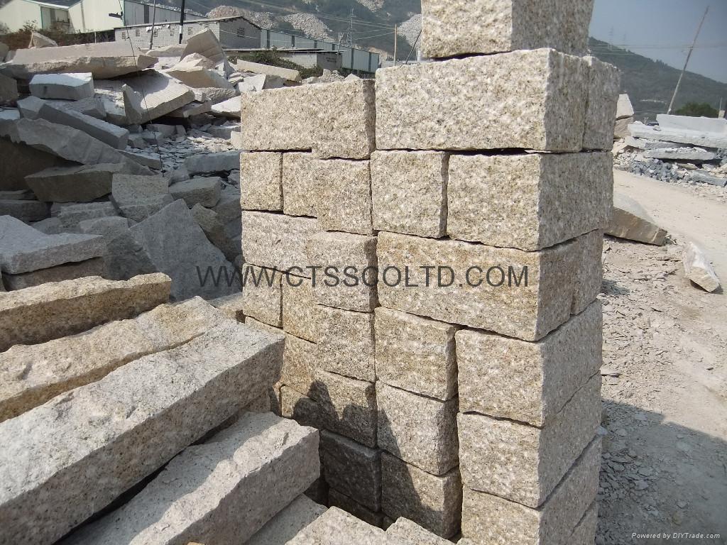 Granite Stone Sandstone : Granite paving cobblestone curbstone ctss