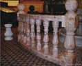 marble handrails and steps