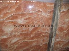 Marble slab and tile (Tea Rose marble)