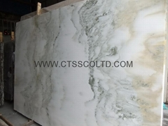 Colourful white marble slabs / tiles