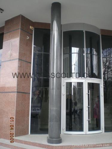 Granite Column in Sesame Black