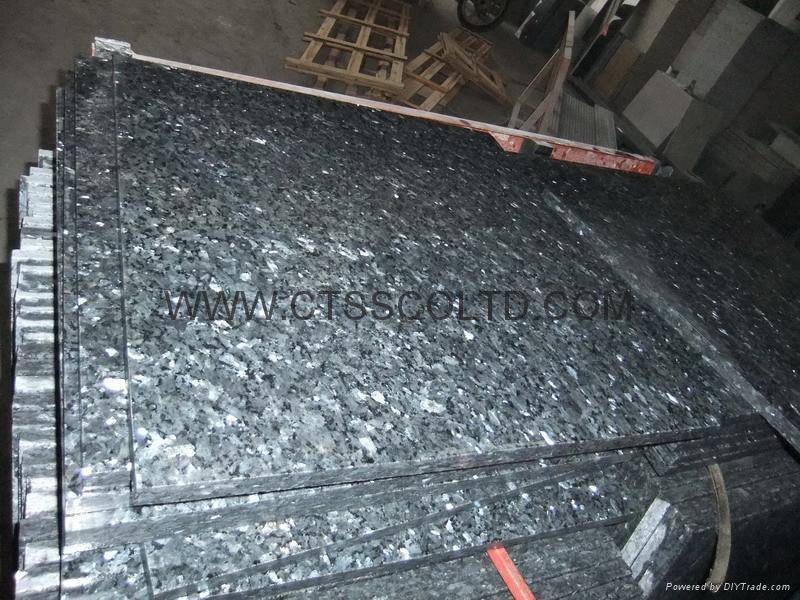 Granite Blue Pearl GT grade polished slab and tile 4