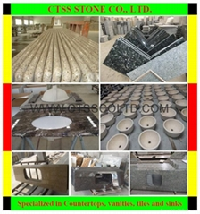 Granite countertop kitchen worktop floor tile marble stone sinks stairs paving