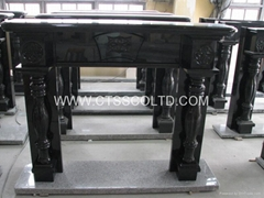 Granite Fireplace marble fireplace back panel and mantel