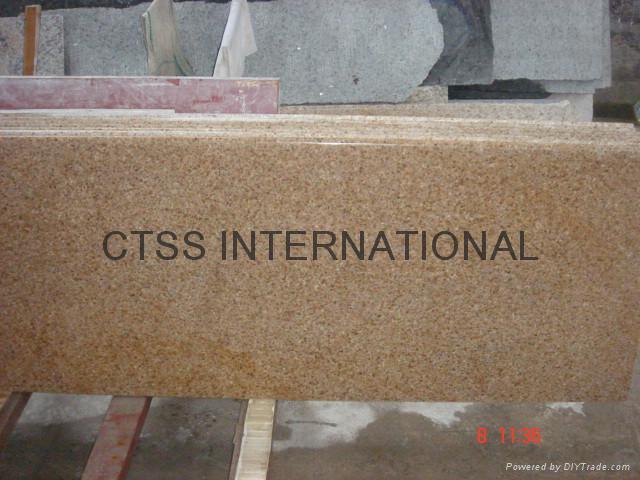 "China Golden granite kitchen counter Island top 96""x26""x 2cm 2"
