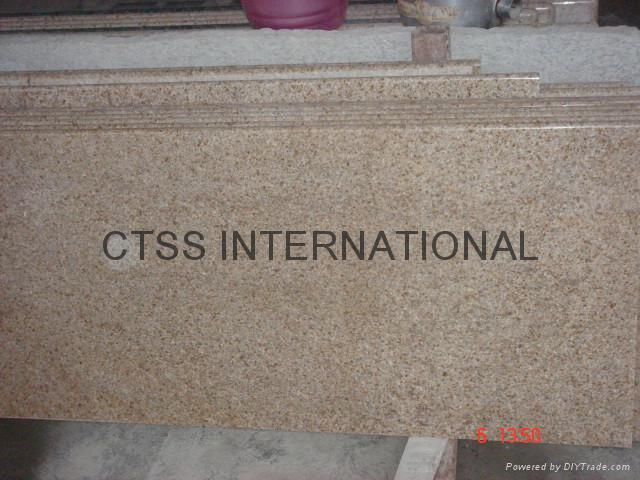 "China Golden granite kitchen counter Island top 96""x26""x 2cm 3"