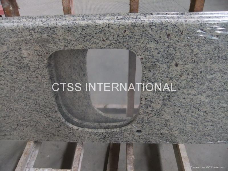 Giallo Santa Cecilia granite countertop kitchen worktop 1