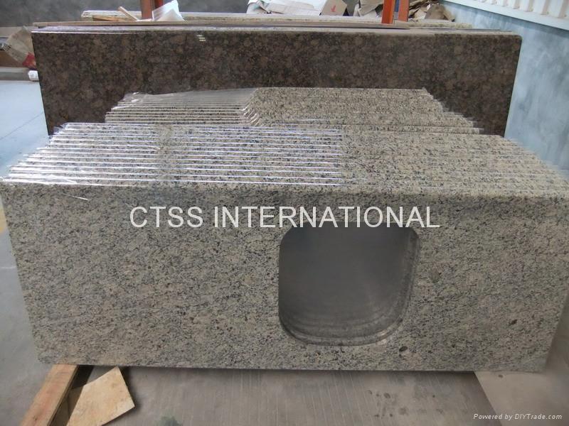Giallo Santa Cecilia granite countertop kitchen worktop 3