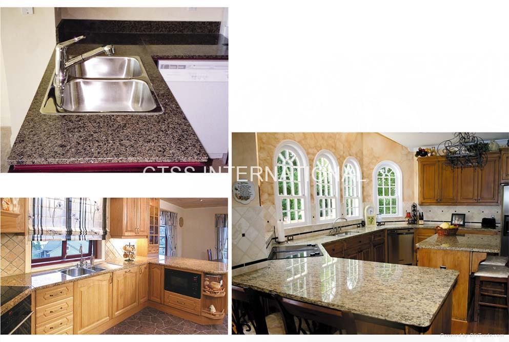 Granite countertop kitchen worktop table top bartop reception counter front desk 1