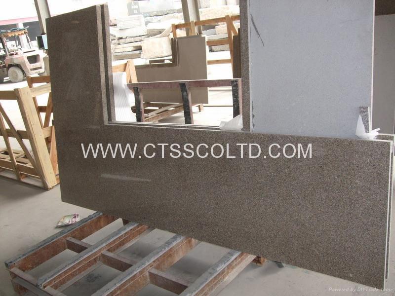 Giallo Antico granite kitchen countertops 3
