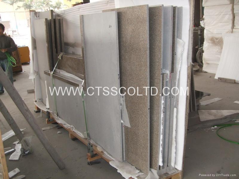 Giallo Antico granite kitchen countertops 5