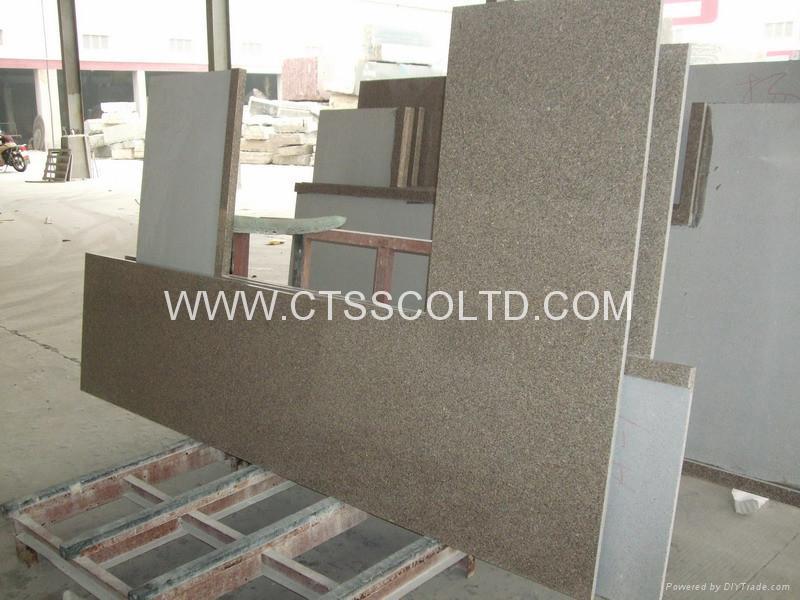 Giallo Antico granite kitchen countertops 1