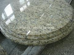 Giallo St. Cecilia granite tabletops