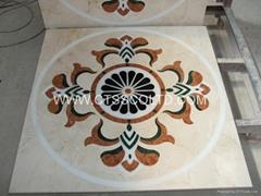 Marble medallion marble pattern marble mosaic marble floor water-jet medallion