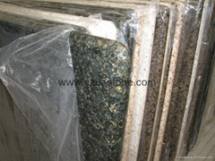 "Verde Ubatuba granite countertop 96""X26""X3/4"""