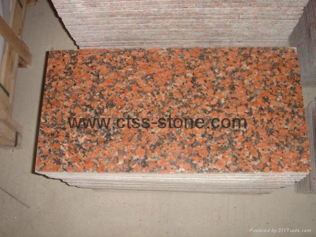 Maple Red G562 granite tiles  5