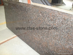 Tan Brown granite counte