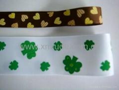 flower printed grosgrain ribbon