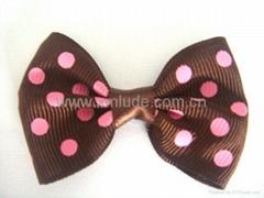 2014 dot printed hair bows for children