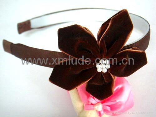 2014 new design headband with hair bow  4