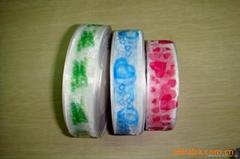 2014 hot sales printed organza ribbon