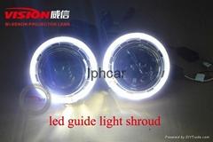 Q5H4雙氙氣透鏡3.0寸透鏡LED光導天使眼汽車配件