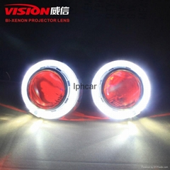 HOT sale Chinese xenon projector lens 7 colors led DRLwith led angel eyes