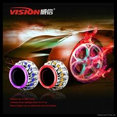 Super H1xenon bulb  mini projector lens fire wheel with angel eyes car headligh