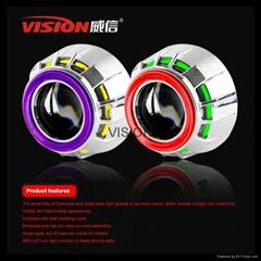 Vision Super bright bi- Xenon bulb CCFL  Dual Angel Eyes Projector Lens kits