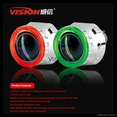 Fashion high/low beam projector headlight 12V 5W ccfl angel eyes auto light