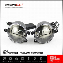 China supplier IP67 waterproof  LED fog light COB drl fog lamp for Toyota