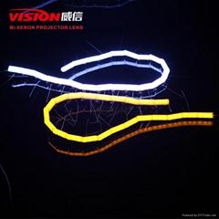 Easy Install Led Drl Snake Crystal  Flexible Light for Car Universal