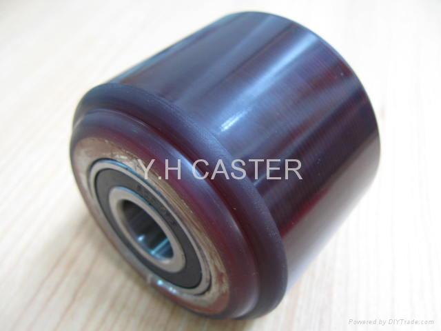 拖板车 PU轮 优力胶轮 80x70mm polyether 1