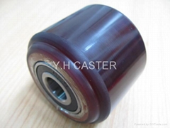 拖板车 PU轮 优力胶轮 80x70mm polyether