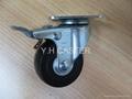 導電輪 ESD caster 50mm 雙剎車輪子