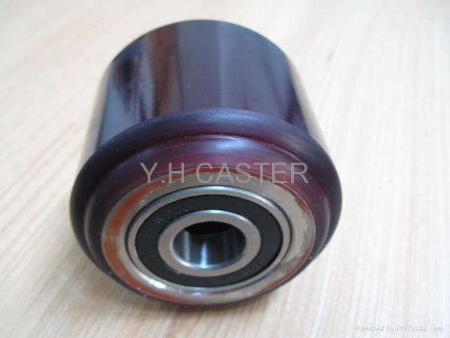 拖板车 PU轮 优力胶轮 80x60mm polyether 3