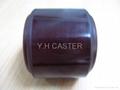 拖板車 PU輪 優力膠輪 80x90mm polyether
