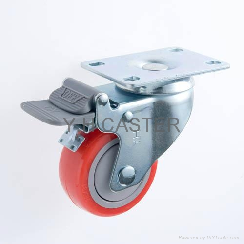 31 Series 314 PU Caster (Plate with Brake)