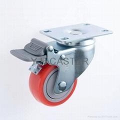 314 耐水解PU輪 雙剎車 附防塵蓋