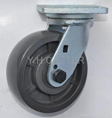 荷重导电轮子 锻造活动脚轮 150mm
