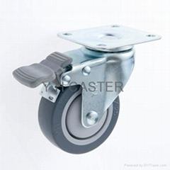 25系列_310 TPR儀器輪子(75mm) 腳輪