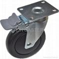 導電輪子5英吋雙剎車(黑)