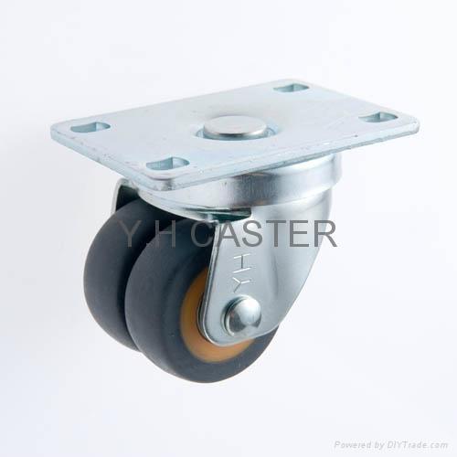 48 Series 2x2 Dual High Elastic TPR Machine Caster