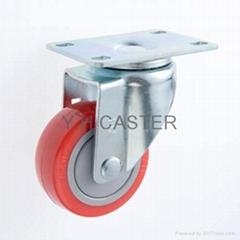 314 耐水解PU輪子 平板 附防塵蓋