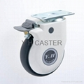 514 Elastic TPR Caster Wheel with Dust-proof Cover 1