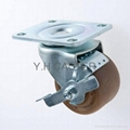 3x2 High Temprature Caster (Plate with Side Brake)