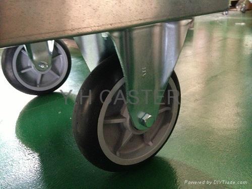 Ammonium Tube Hand Truck Trolley 60cm x 90cm Non-Folding 4